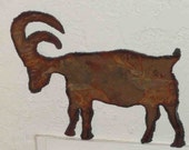 Bighorn sheep - rustic sheet metal art (small)