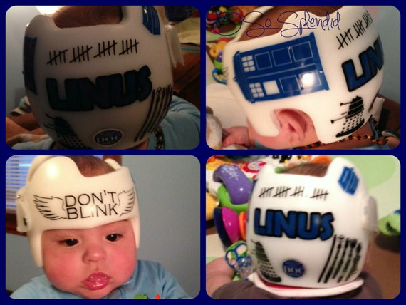 Personalized Cranial Band Decals Plagiocephaly Helmet - Baby helmet decalspersonalized cranial band fairy decals just tinkering
