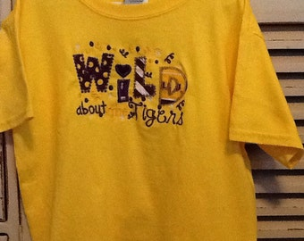 Size Small LSU Appliqued T-Shirt