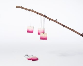 Wood suspension - Pink tie & dye - Party ornament - Birthday - Wedding - Christmas