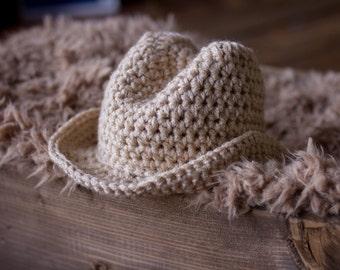 Crochet Baby Boy Cowboy Hat Only / Sizes Newborn - 12 Months **MADE TO ORDER**