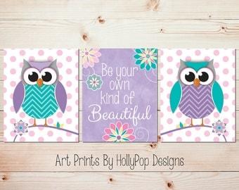 owl wall art baby girl nursery art prints girl bedroom art baby decor toddler girl wall