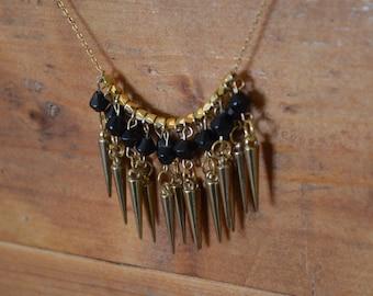 One the Edge Spike Fringe Necklace