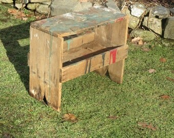 Simply Amazing Farm Fresh Barn Treasure Very Old Portable Bench With Incredible Aged Patina