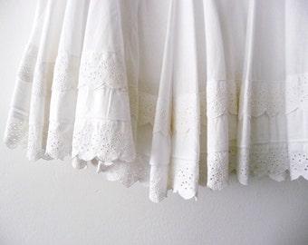 Sale. Summer white skirt. Cotton skirt. Summer skirt.