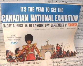 1963 Canadian National Exhibition Souvenir Catalogue and Programme / Canada souvenir