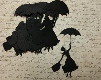 3 inch, Die cut Mary Poppins. #G-36