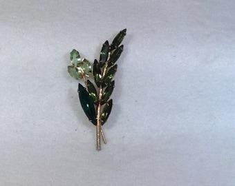 Peridot and Green Vintage Brooch