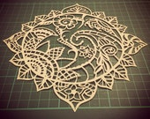 COMMERCIAL LICENCE - Cut it yourself 'Paisley Sun' papercut template
