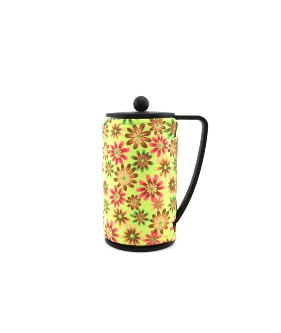 Pink French Press Coffee Maker : COLORFUL DAISY French Press Coffee Maker Wrap by CindysSlipper