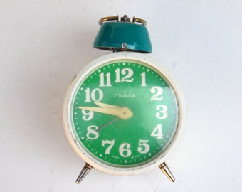 Vintage Mechanical Alarm Clock - Ruhla - Made in Germany