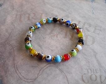 Evil eye children's bracelet