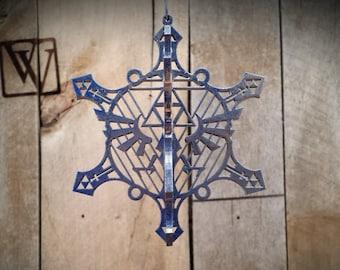 3D Blue Hyrule Snowflake Legend of Zelda Christmas Ornament
