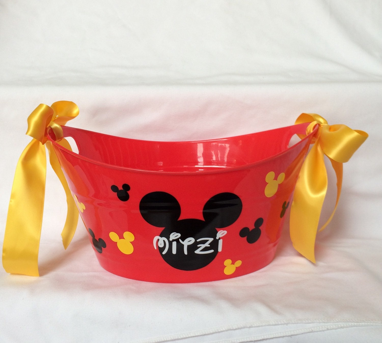 mickey mouse minnie mouse bucket personalized mickey bucket basket easter basket personalized easter