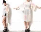 Sheer Watercolor Kimono Dress 4-8