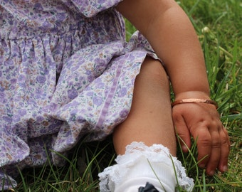 Baby Bangle Bracelet, Toddler Bangle Bracelet, Hand Forged Copper or Sterling Silver, Custom Baby Bracelet, Personalized Baby Bracelet