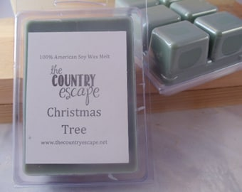 Christmas Tree Scented 100% Soy Wax Clamshell Melt - Fresh Cut Tree -Maximum Scented