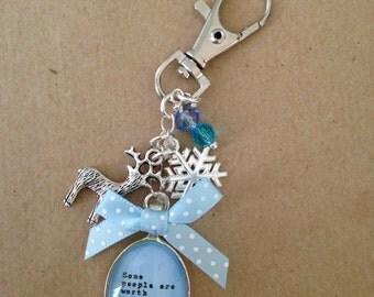 Frozen Inspired Keyring / Keychain / Bag Charm.  Handmade, Unique.