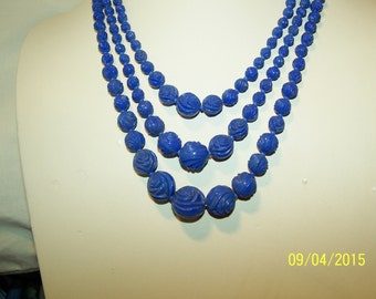 1940s Czech glass floral Beads for a 3 strand necklace