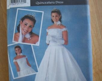 Simplicity 7159 Quinceanera Dress (Size RR 14, 16, 18, 20)
