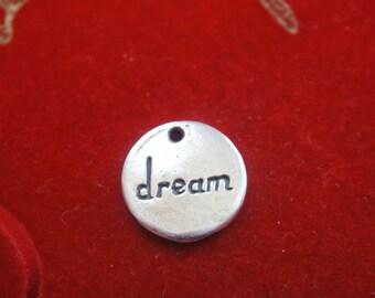 925 sterling silver disc-dream,  disc, charm, silver dream disc