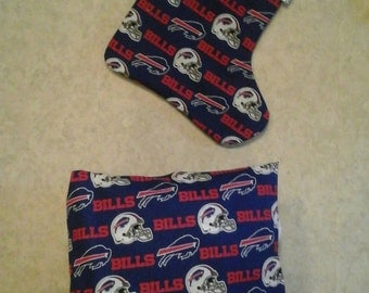 Buffalo bills throw  pillow, back solid blue stocking sold separately