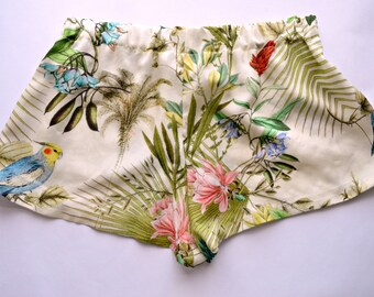 Exotic Tropical Palm Leaf Print Boxer shorts- Sleepwear
