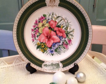 Vintage Spode 1983 Chelsea Flower Show Collectors Plate