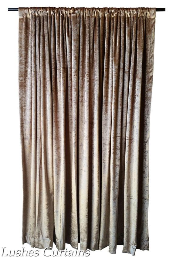 Gold Velvet Curtain Panel 144 Inch Long For Extra Tall