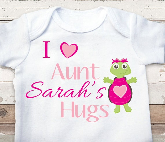 Baby Gift Aunt : Personalized aunt baby clothes i love hugs by kalosbaby