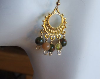 Fancy jasper hoop earrings 0669EA