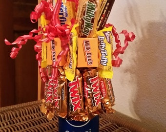 Soda Can Candy Gift Arrangement