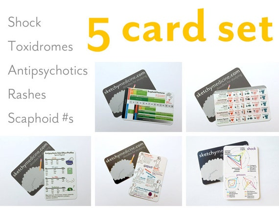 Brand New Set of Pocket Cards (5)