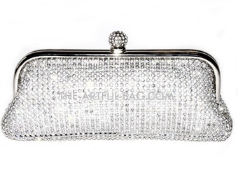 The Lucid Silver Crystal Clutch Bag From The-Artful-Bag.com