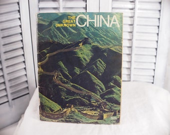 1971 The Great Unknown China, Brian Shaw & John Must Signet Special / New American Library Ilustrated Vintage Booklet History Society