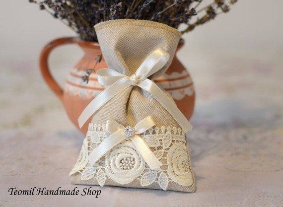 French Wedding Gifts: Rustic Wedding Favor Bags Gift Bags French Vintage Wedding