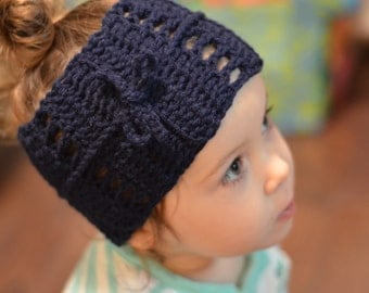 Crochet Tie Headband/Earwarmer