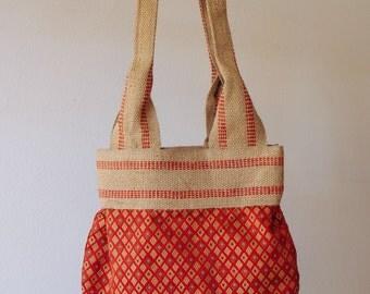 Tote bag, burlap tote, handled tote bag, book bag