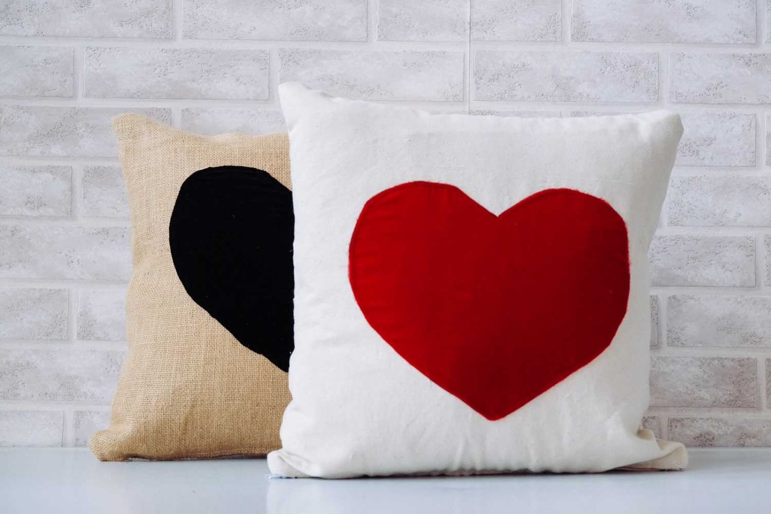 Valentine S Day Heart Pillow Velvet Red Love Pillow