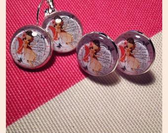 angels pendant or stud earrings