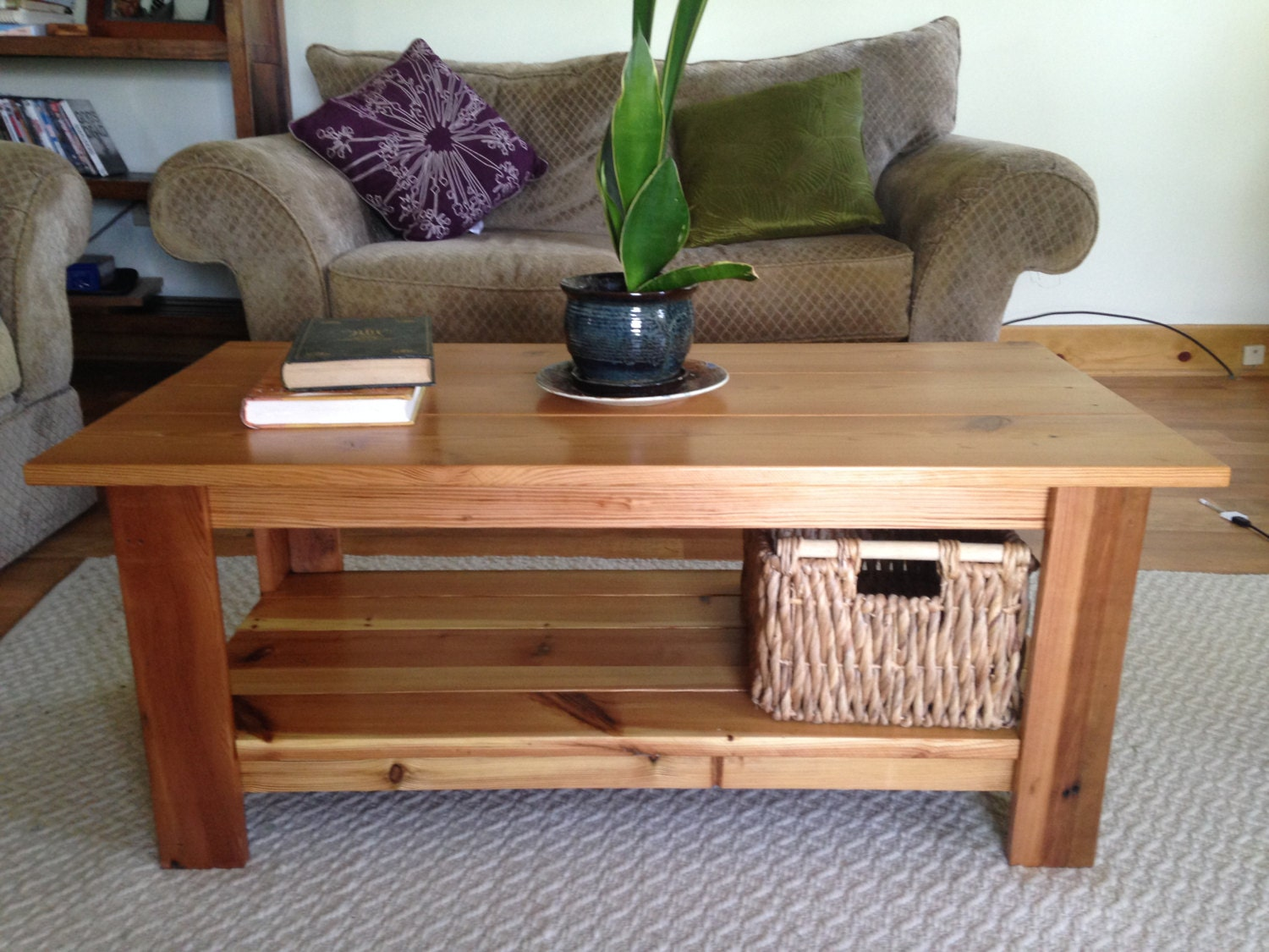 The Colombian Small Coffee Table Reclaimed Heart Pine Coffee