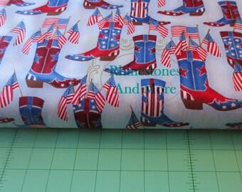 Cowboy boot Print Cotton fabric