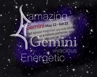 Gemini Constellation Poster