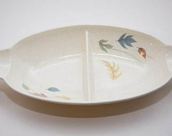 Large Franciscan Autumn Leaves Divided Serving Dish or Relish Tray
