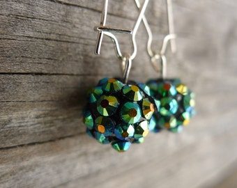 Sparkly Multi-Colored Spike Drop Earrings