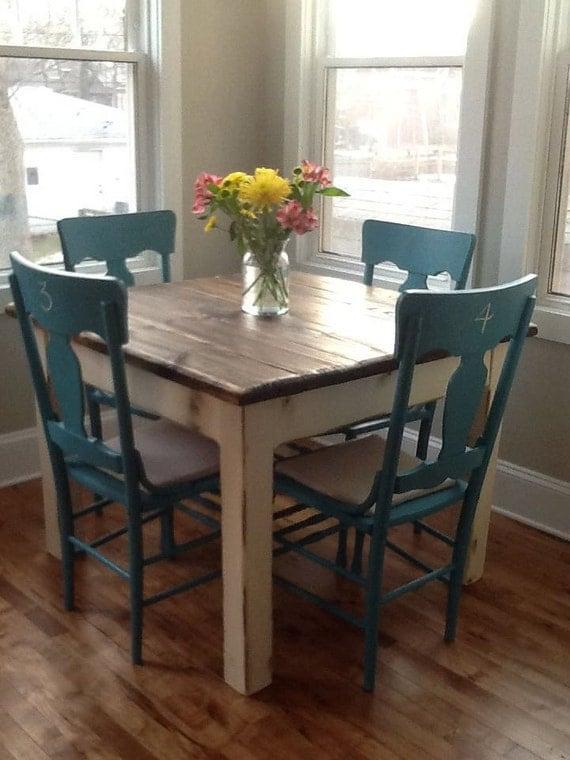 coastal living farm house wood kitchen table beach home decor