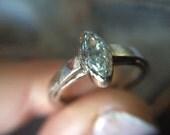 14kt Marquise Diamond  Engagement Ring- 14kt White Gold Rustic Marquise Engagement-Marquise Diamond Engagement Ring