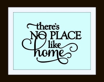 There's No Place Like Home (small) Vinyl Wall Art, Vinyl Decal Home Decor, Vinyl Quote