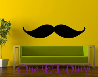 Vinyl Art Wall Decal - MUSTACHE - Home Decor Vinyl Art - High Quality Vinyl Graphic