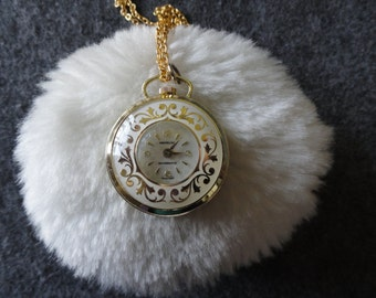 Swiss Made Montreluxe Wind Up Necklace Pendant Watch